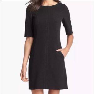 Tahari Black Exposed Zipper Dress Size 10